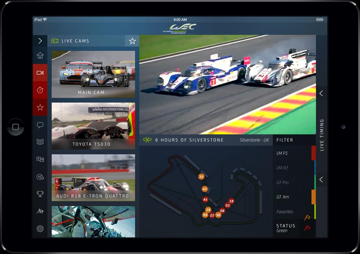 FIA WEC, l'application second écran